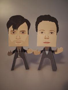Mini David Tennant - Broadchurch - Wee Paper People