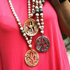 Unique Monogram Necklace Gift For Her Monogram Necklace Valentine Gifts For Mom, Christmas Gifts For Mom, Monogram Necklace, Boho Necklace, Diy Monogram, Jewelry Gifts, Unique Jewelry, Cat Jewelry, Jewelry Ideas