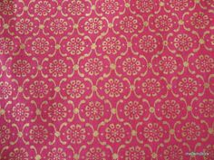 Indian Mughal Print Magenta and Gold Block Print by theDelhiStore, $16.00