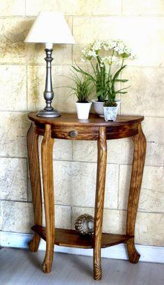 Mesa esquinera de madera mesas esquineras pinterest for Mesa redonda esquinera