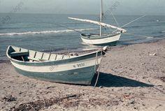 Boats on the beach in the Camargue;  Wübbel, Bernhard; 1921-2013 . Photo, 1956.