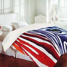 Madart Inc. 'Colorful Zebra' Duvet Cover