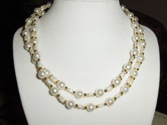 """Pearl """"Rice Bridges"""" necklace --- $4.00 + $3.00 shipping in the USA"""
