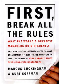First, Break All the Rules. Love Marcus Buckingham. Great book for surrounding yourself with leaders.