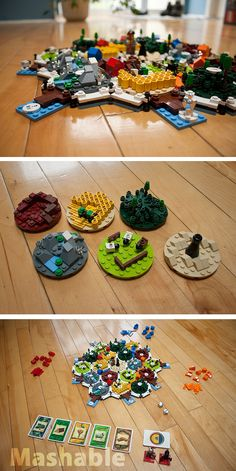 LEGO Settlers of Catan - I used to play the board game of this!  I would love to know where I could get a LEGO version for my son!