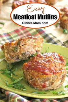 These easy Meatloaf Muffins are perfect for busy weeknights and fancy enough for company since they have pops of sundried tomatoes and fresh basil. They're made with oatmeal so they are gluten-free! #meatloafmuffins #meatloaf