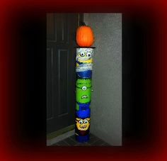 Make A Minion Pumpkin Stand For Halloween. Full Tutorial