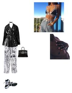 """Me dissociating"" by lanadelcoast ❤ liked on Polyvore featuring Emilio Pucci, Chanel, Alaïa and Hermès"