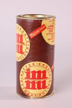 """DDR Museum - Museum: Objektdatenbank - Kaffeeersatz """"im nu"""" Copyright: DDR Museum, Berlin. Eine kommerzielle Nutzung des Bildes ist nicht erlaubt, but feel free to repin it!"""