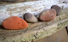 Beach Stone Magnet Set by BarnWoodArt on Etsy