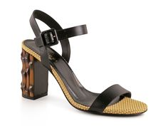 Gucci bamboo high heel sandals in black Leather - Italian Boutique €416