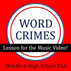 """$- Lesson and poster project to go with the music video by """"Weird Al"""" Yankovic! Students investigate different """"word crimes"""" and learn how to prevent them!"""