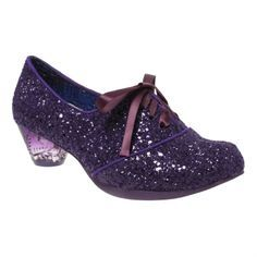 And if I cant get those ones, I'll get these! Love the sparkle and the colour. Purple for everything! :: Curio Low | Irregular Choice