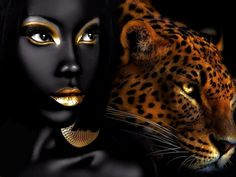 Gold - Golden - Portrait - Tiger - Photography - Fashion