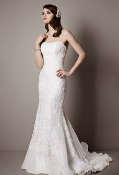 brides galina signature exclusively at davids bridal lace over charmeuse gown with soutache detail