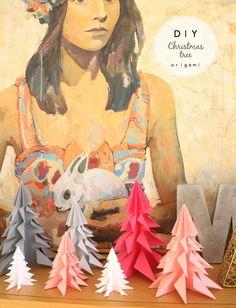 Made with lof: DIY - Árbol de Navidad de Origami