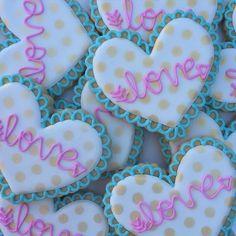"""""""Ruffled Polka Dotted Hearts  #thedoughmestichousewife #doughmestichousewife #decoratedcookies"""" Photo taken by @doughmestichousewife on Instagram, pinned via the InstaPin iOS App! http://www.instapinapp.com (02/03/2015)"""