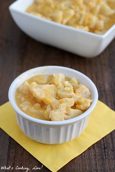 A Side Dish Of Cheesy Cauliflower That Can Be Made In A Crock Pot. A Convenient  Entertaining Idea.