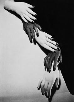 Horst P. Horst a photograph of hands all different shades to create a pattern