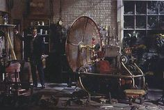 George Pal's classic visualization of the Time Traveller's laboratory, for the classic movie version...
