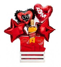 Lindor, Candy Bouquet, Gift Baskets, Valentine Day Gifts, Catering, Ronald Mcdonald, Balloons, Crafts, Gift Ideas