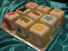 "another cute baby shower cake; especially for a ""baby blocks"" theme"