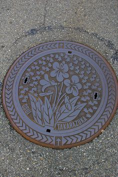 Never thought I'd want to go to Takarazuka,Japan just to see these intricate manhole covers!