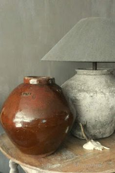 Het Moonhuis: Kruiklamp Lamp Redo, Lamp Makeover, Cheap Home Decor, Diy Home Decor, Pottery Barn Style, I Love Lamp, Cement Crafts, Concrete Art, Vintage Planters