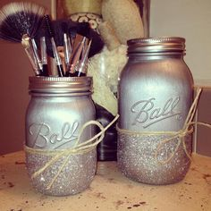 Painted Mason Jars Housewares Home Decor Nursery Decor von RMbasix, $24.00