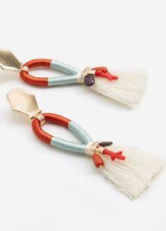 Tassel bead necklace -  Women | MANGO USA