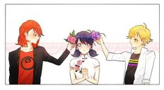 Nathaniel, Marinette and Adrien