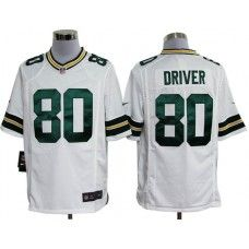 Nike Mens Green Bay Packers Donald Driver Jersey 80 Game Team Color White  Green Bay Packers 06537bce3