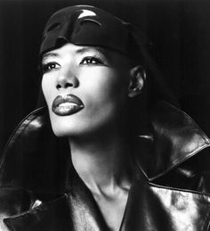 Grace Jones I never seen this woman in regular attire being interviewed about her life. Definitely an original. Grace Jones, Guy Bourdin, State Of Grace, Provocateur, Portraits, Beautiful Black Women, Beautiful People, Beautiful Celebrities, Amazing Grace
