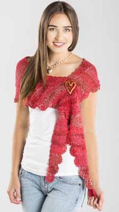 Ravelry: Sizzling Scalloped Shawlette pattern by Premier Yarns Design Team