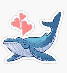 Whale Love! Sticker