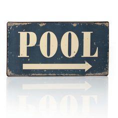 """Blechschild """"Pool"""""""