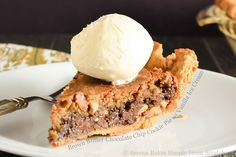 Brown Butter Chocolate Chip Cookie Pie with Vanilla Ice Cream Credit:amanda #Gents.. Remove that #bulge in your #jeans with..http://2dayswork.net/Wallet #Share Brown Butter Chocolate Chip Cookie Pie with Vanilla Ice Cream  FoodPornDaily | Food Porn Food...