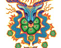 Bathroom Mural, Geometric Bird, Aquarius Tattoo, Cactus Tattoo, Yarn Painting, African Crafts, Mexican Folk Art, Psychedelic Art, Deer