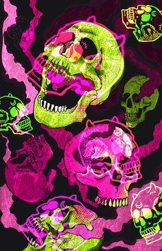 Little fun illustration I did. Hippie Wallpaper, Trippy Wallpaper, Skull Wallpaper Iphone, Acid Wallpaper, Photo Wall Collage, Collage Art, Graffiti, Psychedelic Art, Skull Art