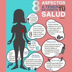 8 Aspectos a tener en cuenta cada día sobre tu salud. #Salud #Health #Infograhic #Infografia #Farmacia #lifestyle #gimnasio #habitosaludables