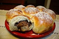 Brioche Buchty fourrée au Nutella - Basic Homemade Bread Recipe - The healthiest bread to make? Parfait Desserts, How To Roast Hazelnuts, Cake Factory, Nutella French Toast, Food Humor, Brownie Recipes, Sweet Bread, Coco, Sweet Recipes