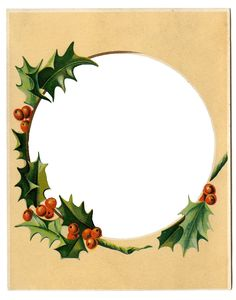 Winter Holiday Clip Art Free | ... Christmas Clip Art - Winter Scene + Holly Frame - The Graphics Fairy