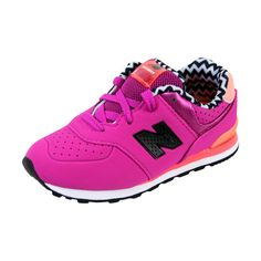 New Balance - 574 Paint Chip Acrylic Sneaker (Toddler) - Pink