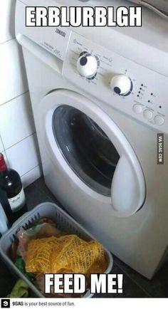 The crazy washing machine! ''Dun dun''!