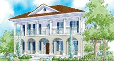 Myrtle Grove   Home Plans  Traditional and Cottage House Plans europeanhomeplans Sater Design Collection    s  quot Addison Court quot  home plan from our Traditional Neighborhood Design portfolio
