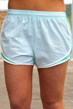 LAUREN JAMES: Shorties {Mint} | The Fair Lady Boutique #seersucker #shorts