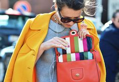 love it: candy stripe nails and bag