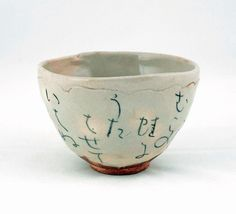 'My thoughts' tea bowl [chawan] c.1870-Otagaki Rengetsu and Isso