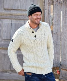 Men's Shetland Wool Windproof Zip Sweater