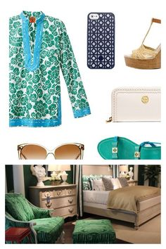 Fashion and furniture go hand in hand... Top trends- emerald green and bold patterns are big in both industries  #shop #trends #emeraldgreen #boldpatterns #fashionista #furnituresta - 2013 Color of the Year: Emerald Green